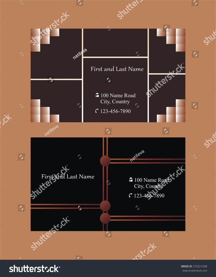 Two #business #cards with #dark background #abstract #pattern
