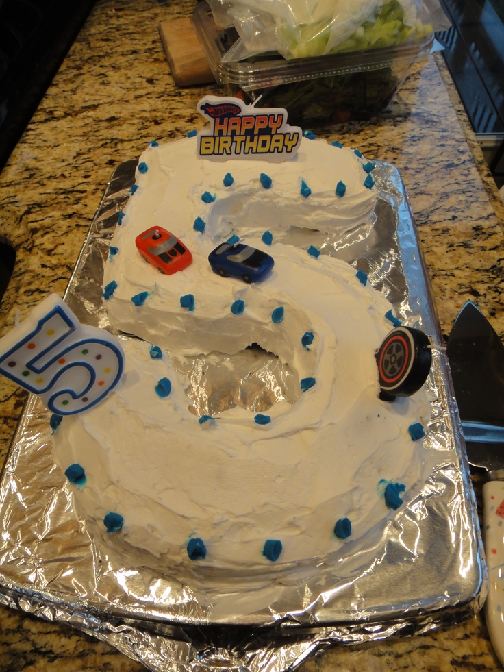 1000 Ideas About Number 5 Cake On Pinterest Hot Wheels