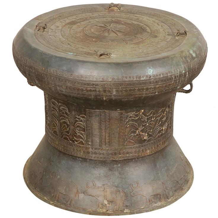 Charming asian rain drum was