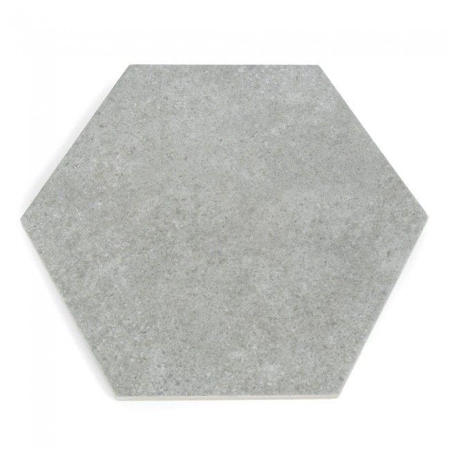 Hexatile Cement Grey - ensuite shower