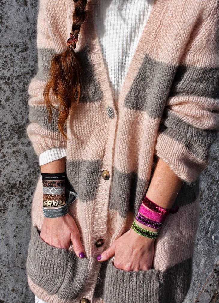 malibu tails, glitter bracelets to use on hair too   #glitter #fashion #streetsyle #accessories, #colors #bijoux #colors #colorful #fashionblog #outfit #fashionblogger #trend #knit