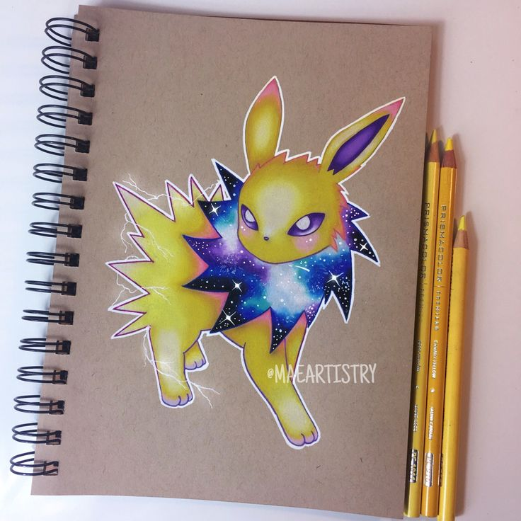 Here's Jolteon ⚡️ ________ ‣ instagram.com/maeartistry ‣ facebook.com/marilynmaeart ‣ twitter.com/maeartistry ‣ maeartistry.tumblr.com
