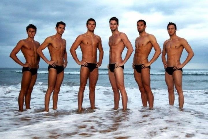 Olympics: The British Swimming team were a hit so here is some action Down Under. Sorry I mean from Down Under. Australian's Men Team.