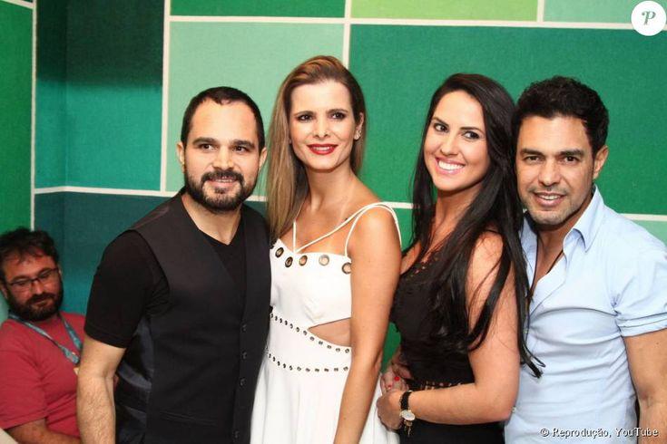 Zezé di Camargo e Luciano estão felizes com suas respectivas companheiras
