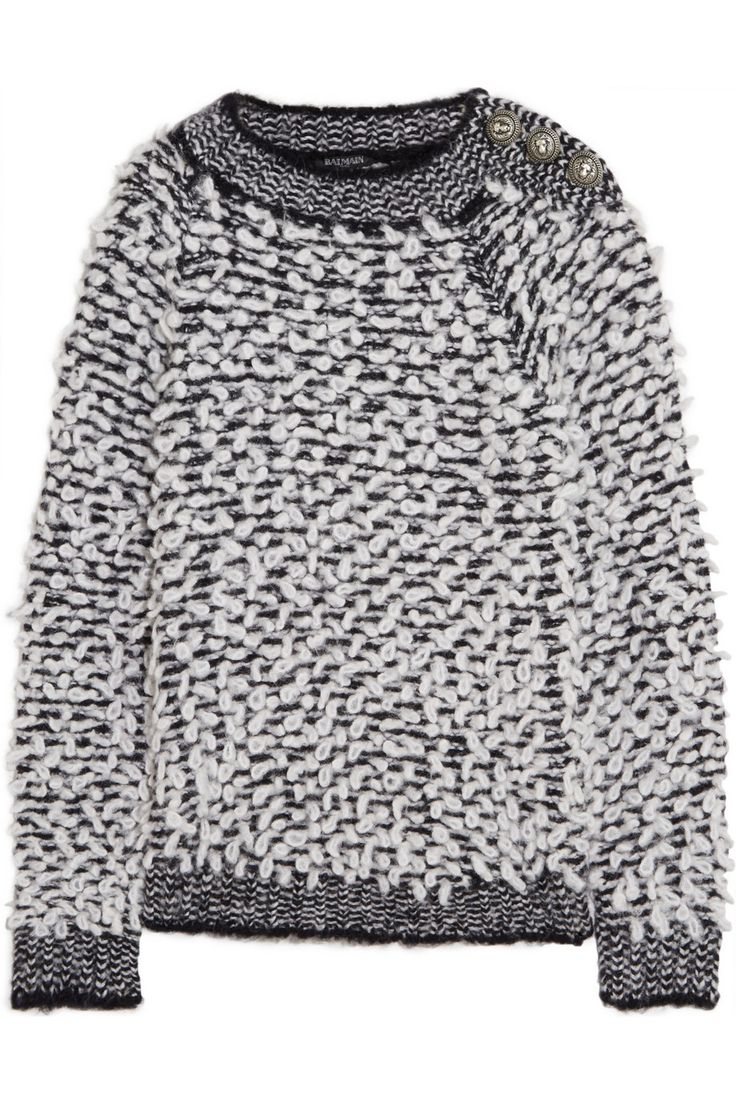 balmain boucle sweater