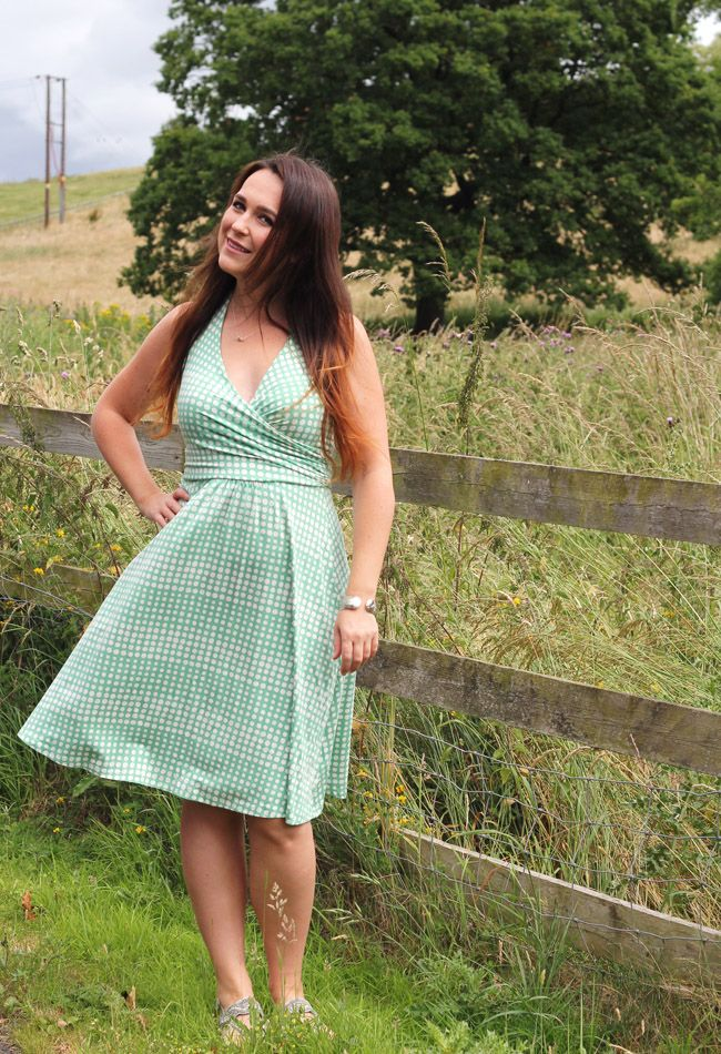 Swishy green dress - what I bought in the Boden sale. Bargain of the Week
