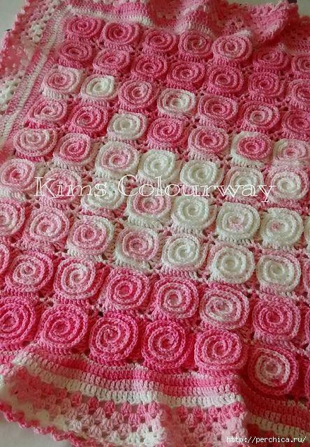 Mundial de la costura: gancho de tela escocesa de los motivos en espiral, clase magistral