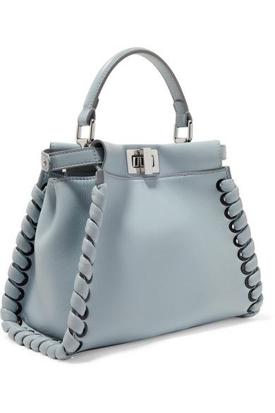 23889068fd Light-blue leather (Lamb) Turn lock fastenings at top Weighs approximately  1.5lbs  0.7kg Designer color  Grey Powder Made in Italy