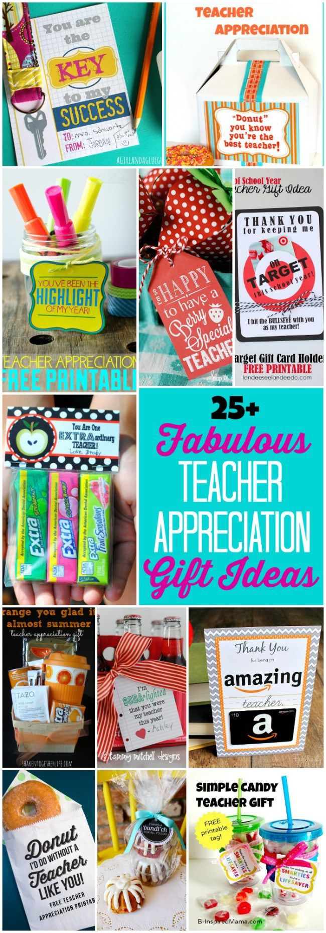 Over 25 fabulous teacher appreciation gift ideas that teachers will LOVE!