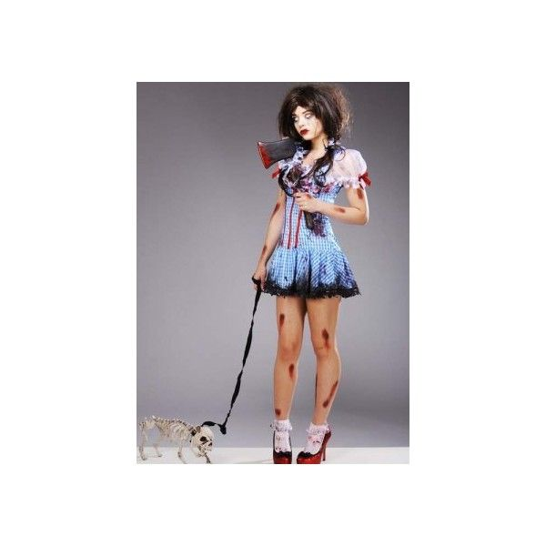womens halloween zombie dorothy diva costume 61 liked on polyvore featuring costumes - Dorothy Halloween Costume Women