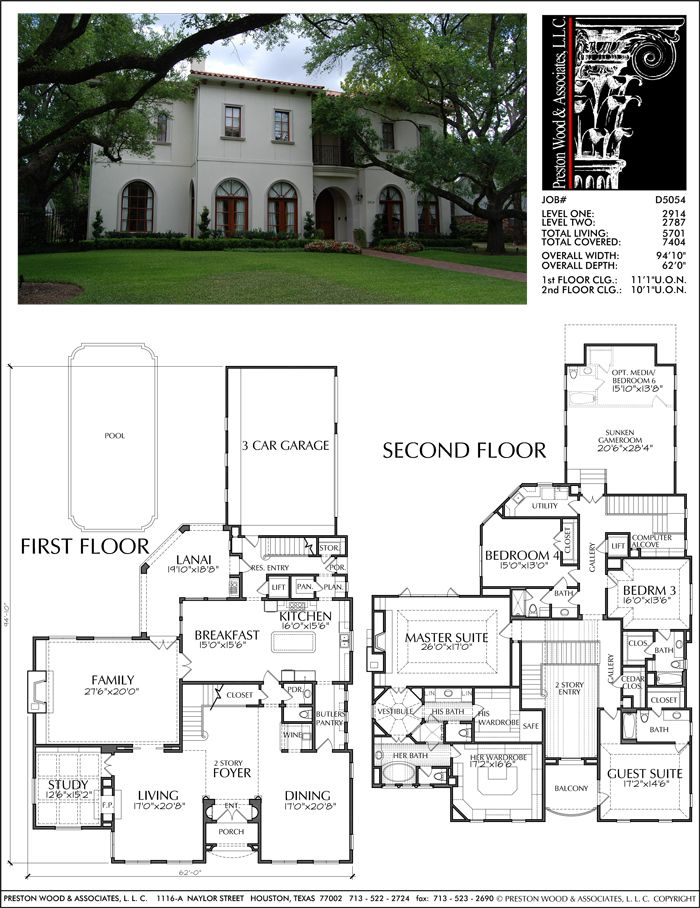 Two Story House Plan D5054. Love it but the ladies closet is a bit much. it's bigger than the other bedrooms. Would do something else with it