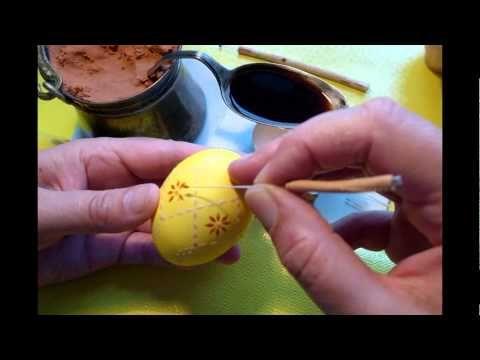Sorbische Ostereier verzieren - YouTube