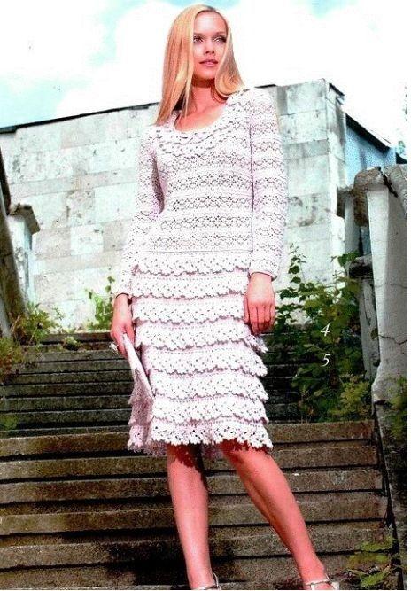 Платья из ленточного кружева крючком схемы. Вязание крючком ленточное кружево платья. |