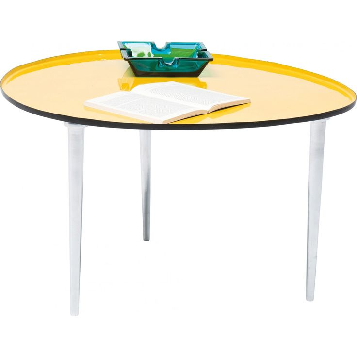 Table Basse Design Egg jaune 57x62 cm Kare Design