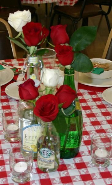 Italian Themed Dinner Party Centerpieces |