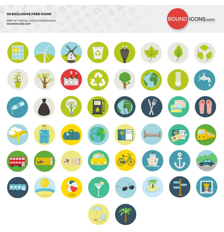 A transportation, travel and ecology themed icon set by Round Icons with 50 free icons in various formats.