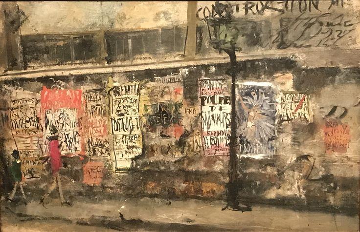 ガス灯と広告 佐伯祐三 1927年