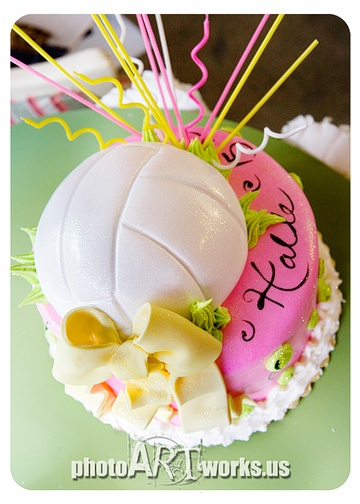 Volleyball Cake  Something Sweet Studio
