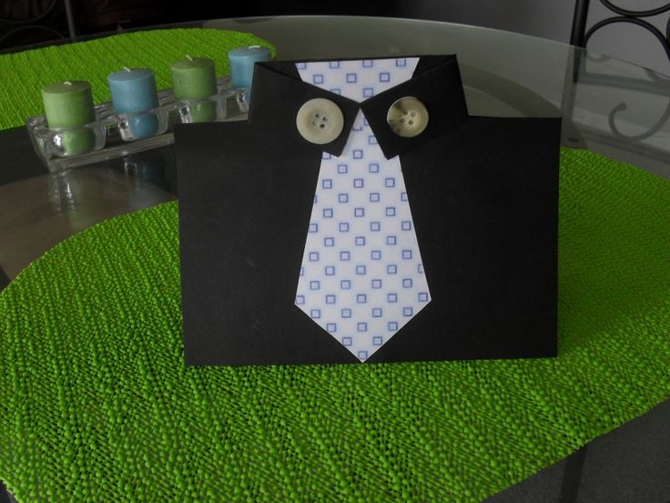 Father's Day Tie Card: Easy and a perfect craft for kids! #fathersday