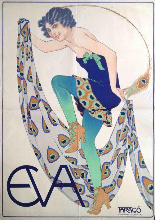 "Farago art deco poster ""Eva"""