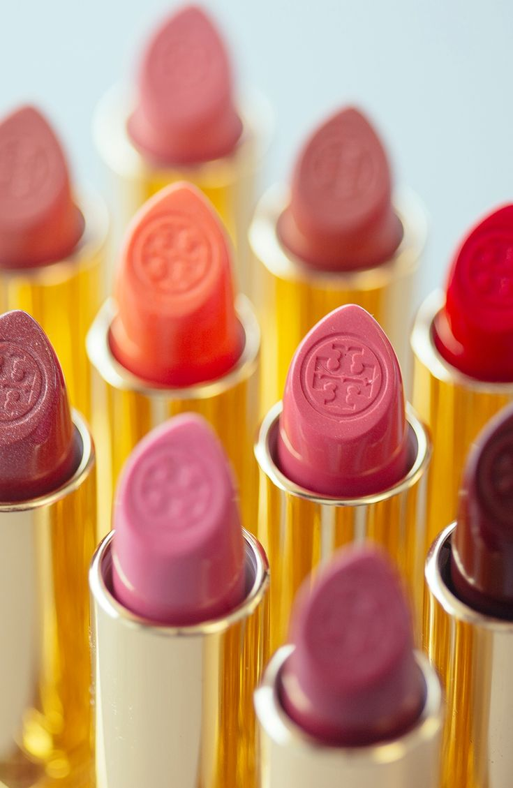 Made in these shades: Tory Burch lip color