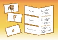 Flip-Flap: The Lion Family -Materials for children in pre-K and kindergarten from KiGaPortal.com