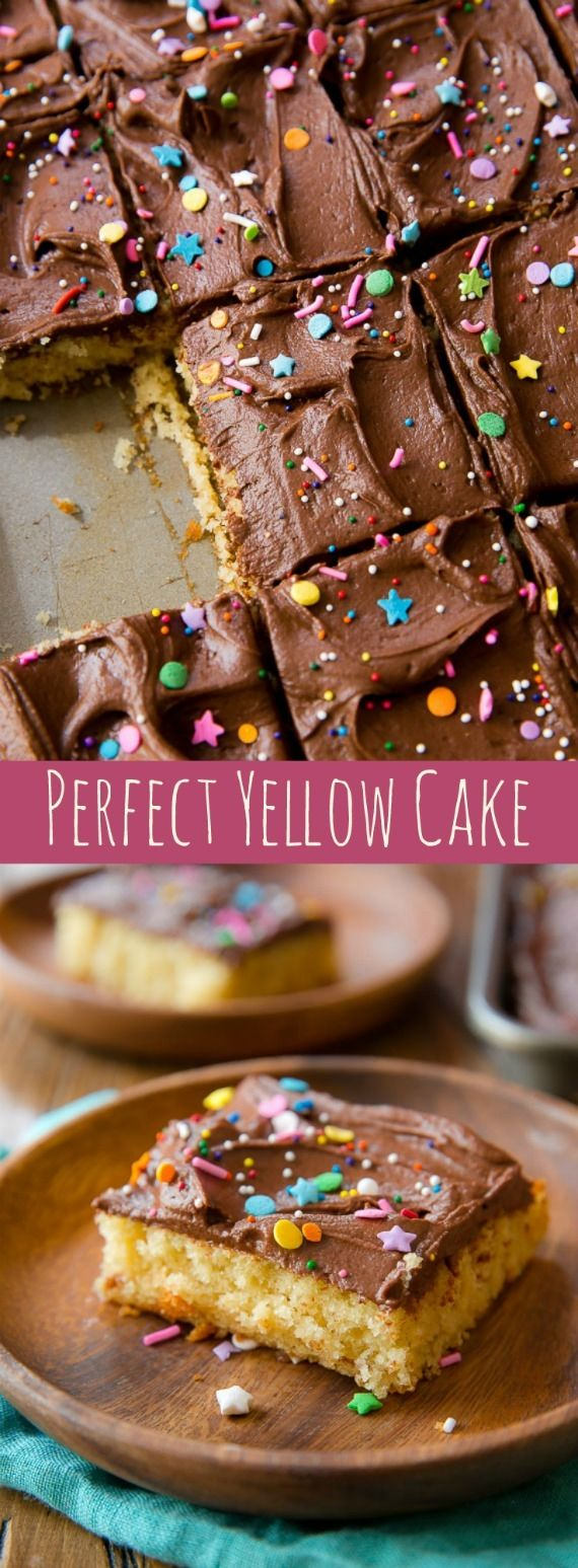 Yellow Sheet Cake with Chocolate Fudge Frosting. - Sallys Baking Addiction