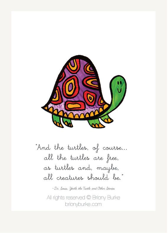 Dr Suess Quote  Yertle Turtle Nursery Wall Art by BrionyBurke, $14.00
