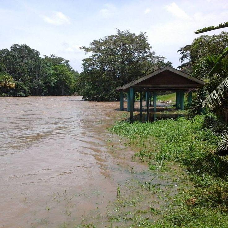 Hurricane Earl caused The Mopan River at Benque Viejo del Carmen to erupt.