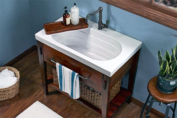 Ceramic Utility Sink : ? Were impressed by the depth and shine of this ceramic utility sink ...