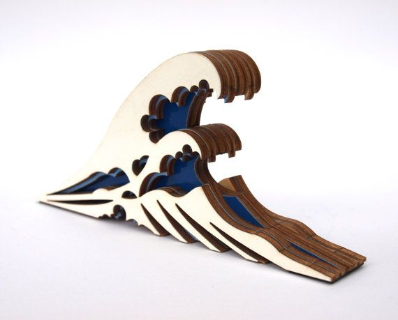 The great wave off Kanagawa wooden doorstop by CliveRoddy on Etsy, $250000.00 :: this is a prototype, hence why it's not resonably priced