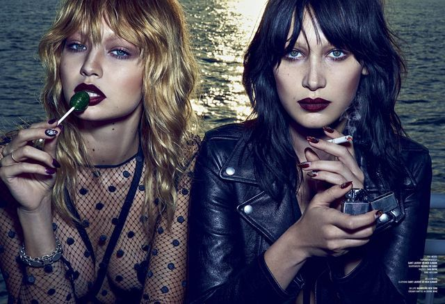 double vision: bella and gigi hadid by steven klein for v magazine #96 fall…