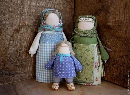 """Куколки """" Бабушкино счастье..."""" - народная кукла,семья,бабушка,подарок бабушке"""