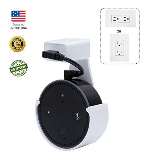 CloverTale Home Outlet Wall Mount Holder for Alexa Echo Dot Bose Anker Home Mini round speakers Accessories