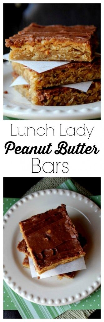 Lunch Lady Peanut Butter Bars from Jamie Cooks It Up!
