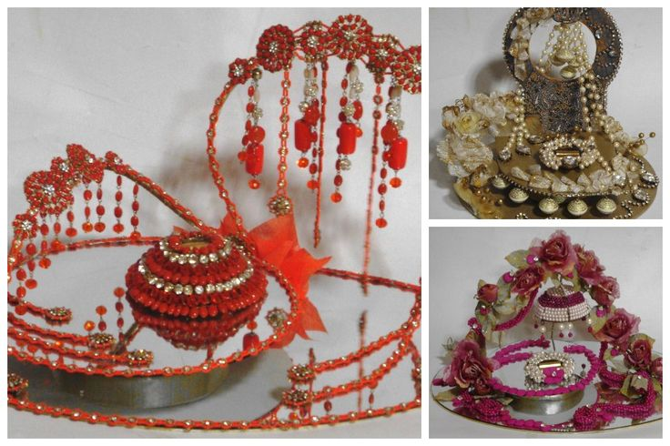 Wedding season is coming #Kanpur! How about these designer ring platters for engagement! Call @ 9336108208 to order.