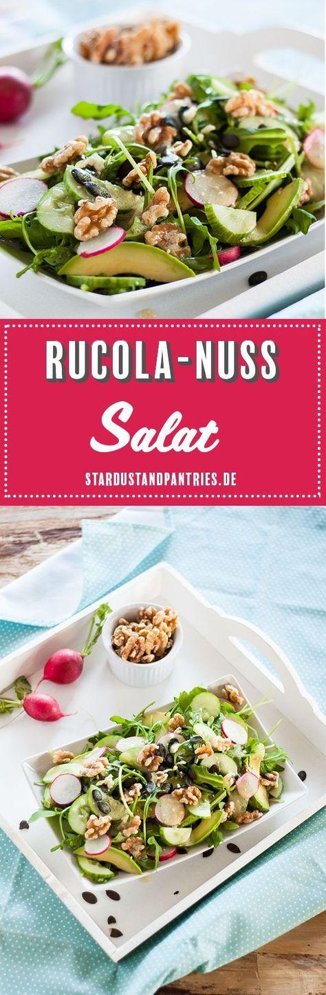 Schneller Rucola-Nuss Salat mit viel Magnesium und Zink für starke Nerven! Schn… – Food