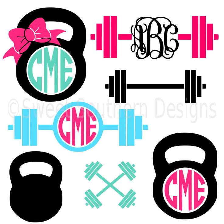 Monogram barbell kettle bell cross crossfit weights SVG instant download design for cricut or silhouette by SSDesignsStudio on Etsy https://www.etsy.com/listing/400244381/monogram-barbell-kettle-bell-cross