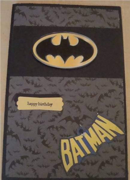 Batman Birthday Card Card Ideas Pinterest Birthdays
