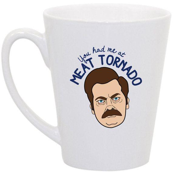 office space coffee mug. ron swanson you had me at meat tornado coffee mug by perksofaurora 1600 office space