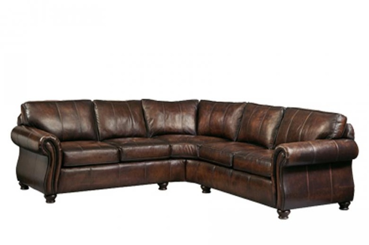 Now that is a Leather Sectional! MAN CAVE! | For the Home