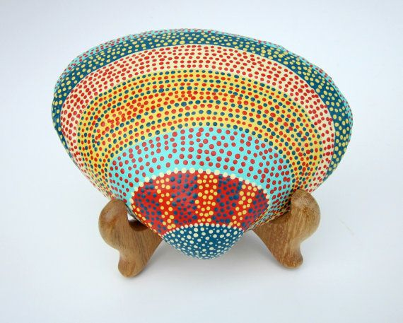 Painted Seashell and Easel  NATURE Art  HOME by prayerfeather, $47.00