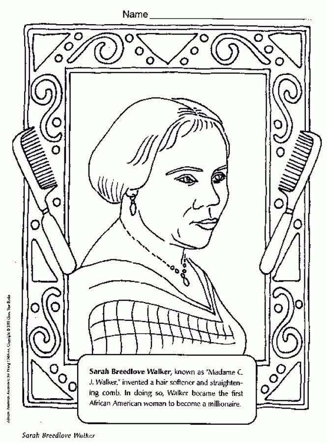 Rosa Parks Day Coloring Pages Free Black History Month Preschool Black History Month Crafts Black History Month Art