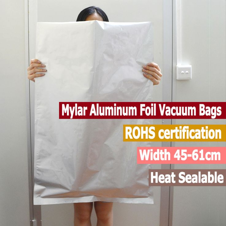10 pc Large Size Mylar Aluminum Foil Bags Vacuum bags 5 Gallon Mylar Bags Food Storage Pet Foods Width From 45cm to 61cm