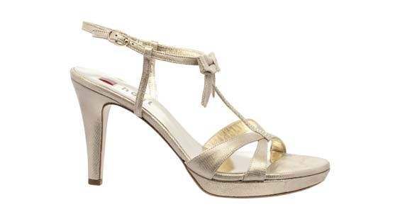 Beautiful champagne wedding sandals by Högl