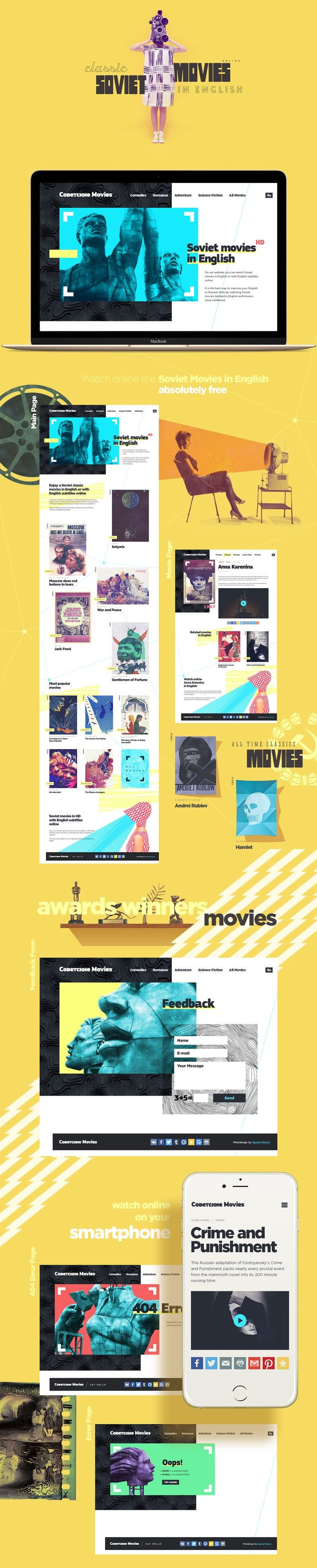 Soviet Movies in English online on Behance