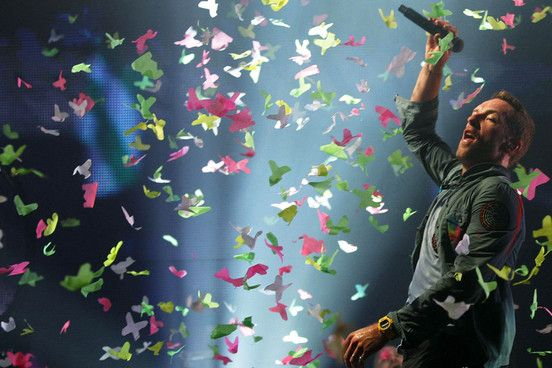 Coldplay serve as Saturday's headline act over at the Pyramid Stage