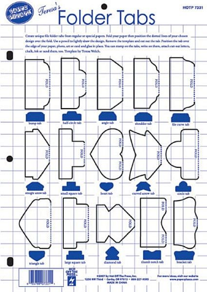Dinglefoot's Scrapbooking - Folder Tabs Template ~ Hot off the Press, $4.99 (http://www.dinglefoot.com/folder-tabs-template-hot-off-the-press/)