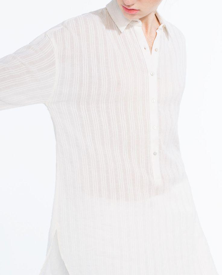Image 2 of LONG FULL SHIRT from Zara