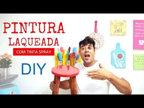 Pintura de mdf cru - pintar moveis com ( laca ) PU automotiva auto brilho,  how to lacquer mdf - YouTube